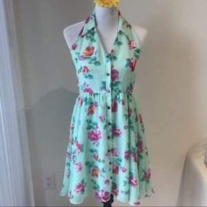 Lily and Migs Floral Chiffon Backless Dress Size S